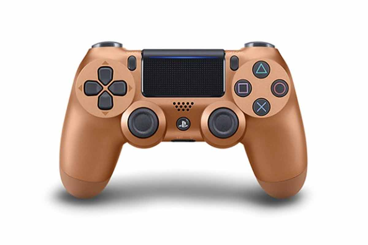 Zlatá gamepad PlayStation
